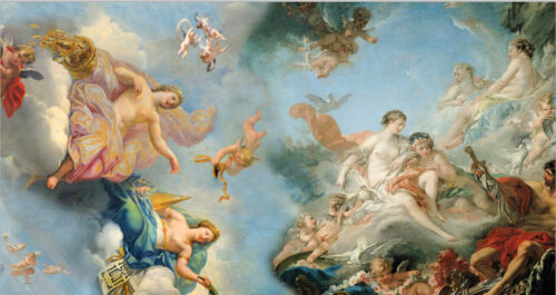 Dream-art Oil painting Assumption of the Virgin with The Birth of Venus angels