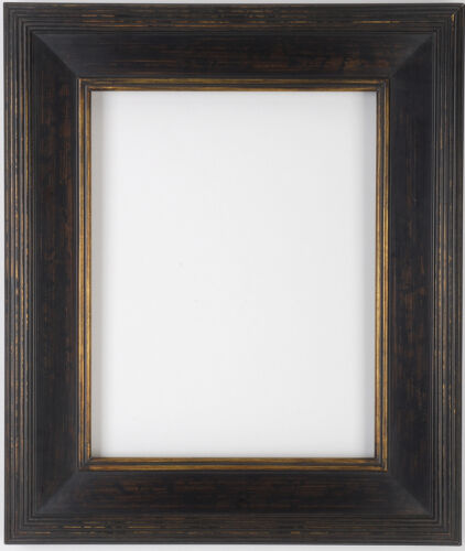 8 x 10  Black & Gold Hand Burnished Gallery Picture Frame Closed corners