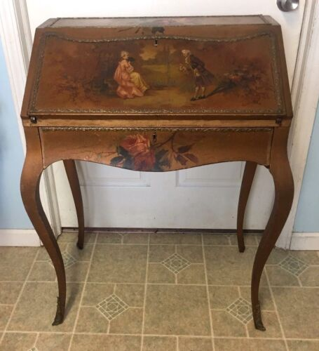 Antique French Louis XV Lady's Hand Painted Writing Desk - Beautiful!!!