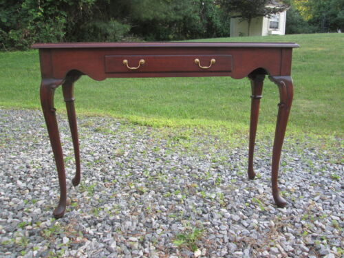 HICKORY CHAIR MAHOGANY CONSOLE TABLE HISTORICAL JAMES RIVER PLANTATION 18TH C