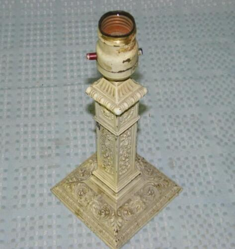 Antique Lamp Base AMW Neo Classical Hellenic Grecian Column AsIs parts or repair