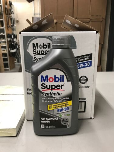 6 Quarts of 5W30 Mobil Super Synthetic Motor Oil