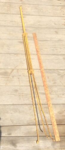 Vintage Metal Lighting Rod Frame , Shabby , Yellow , Architectural