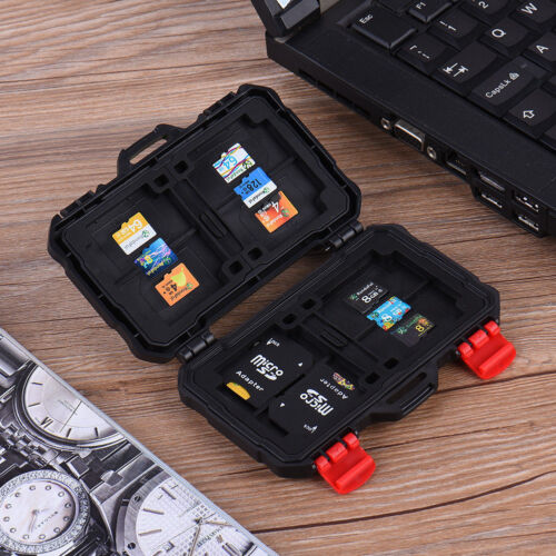 LYNCA Waterproof Storage Memory Card Box Protective Case Holder for SD MSD XQD