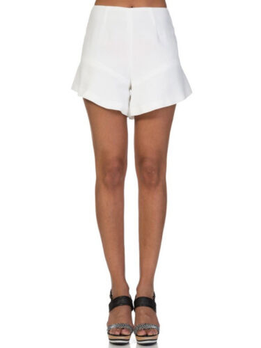 Finders Keepers Nice Guy White High Waist Fit Flare Short S 8