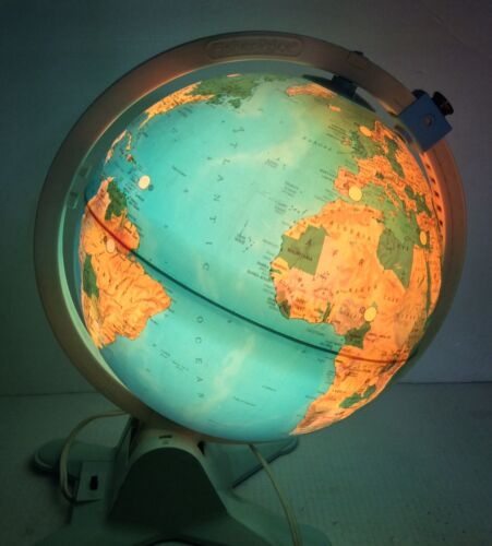 Vintage Fisher Price Light Up Globe View Finder 1988 Educational Illuminated
