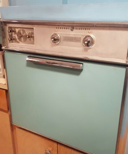 GE ELECTRIC IN WALL OVEN & STOVETOP AQUA TEAL vintage COMBO Orlando FLarea local
