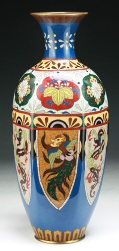 A BIG JAPANESE ANTIQUE CLOISONNE VASE, 19TH CENTURY