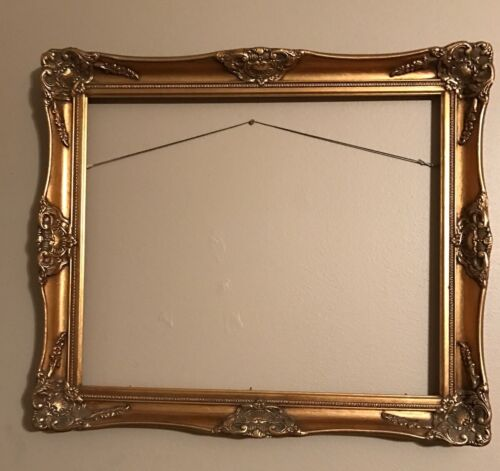Vintage Gold gilded gesso Picture Frame Ornate Large Painting Frame