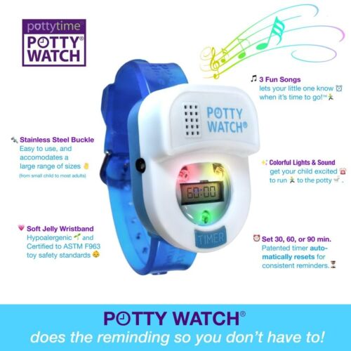 Potty Watch Toddler Toilet Training Timer Reminder with Lights and Music