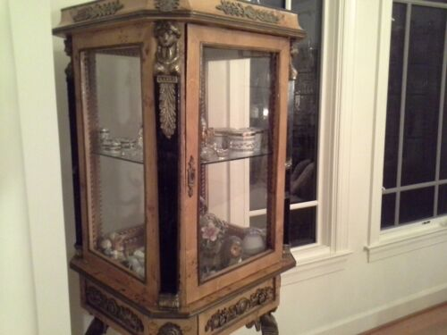 French Empire/Neo-Classical Revival Style Curio Cabinet