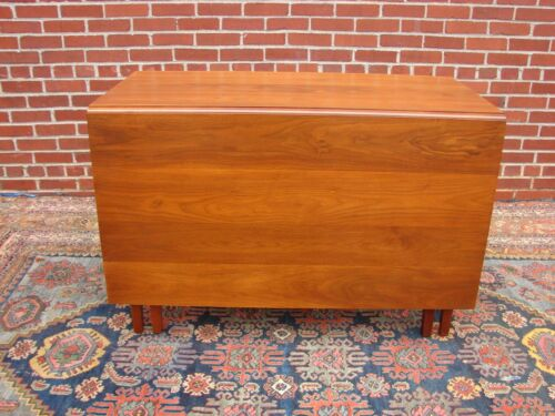 BENBOW FURNITURE COMPANY SOLID WALNUT DROP LEAF TABLE GREENSBORO NC