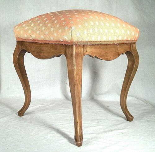 VINTAGE EARLY 20th CENTURY LOUIS XV UPHOLSTERED FOOTSTOOL