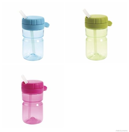 OXO TOT Twist Top Water Bottle 12 oz BPA Free Non Slip Lid Non Spill