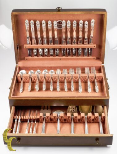 International Sterling Royal Danish Sterling Silver Flatware Set 80 Pieces