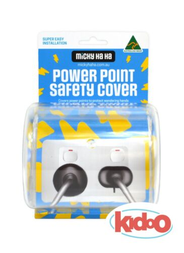 Power Point Cord Safety Cover NEW Double Single Twin Micky Ha Ha Child Baby  <br/> KIDOO IS AN AUTHORISED DISTRIBUTOR FOR MICKY HA HA
