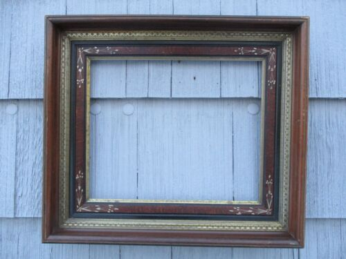 Large Antique 19thC Eastlake era Deep Picture Frame fits 14 x 17