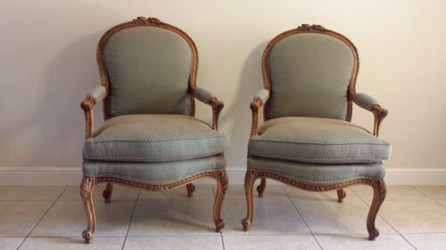 Stunning pair of French Louis XVI Style Bergere Chairs