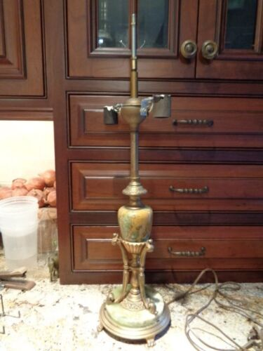 VINTAGE MARBLE AND BRONZE LAMP ART DECO NOUVEAU PERIOD FRENCH