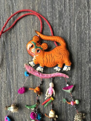 19th Cent Chinese Charms in Silk Stuffed Animals