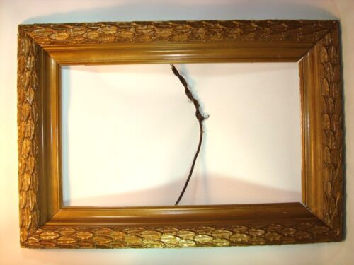 Antique 1890s Gilded Wood and Gesso Picture Frame