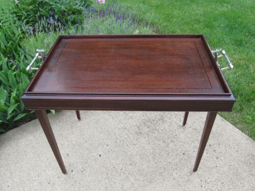 RARE Butler's Table or Converto Tray Stand by R.R. Scheibe Co.