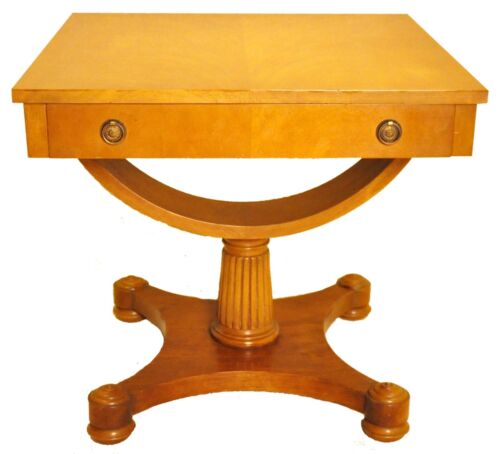 Neo-Classical Style Square Side, End, Accent Table with Drawer