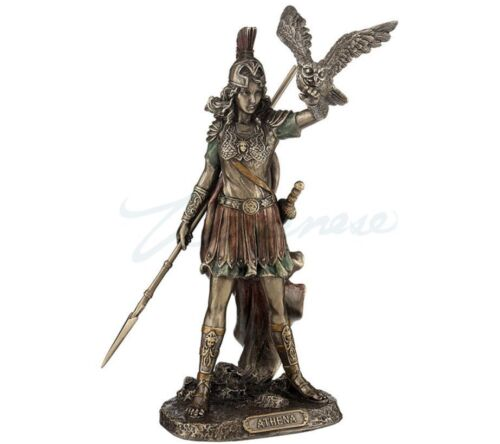 Athena - Greek Goddess Of Wisdom And War, Cast Off The Owl Statue - New in Box