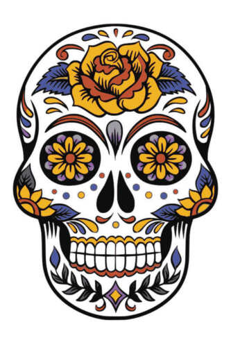 DAY OF THE DEAD STYLE SKULL ART POSTER PRINT STYLE C 24x16 HI RES 9 MIL PAPER