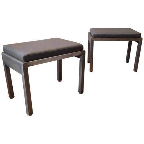Pair of Art Deco Ottomans by Norman Bel Geddes for Simmons