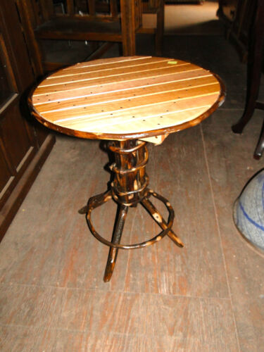 ADIRONDACK  TWIG  STYLE  HICKORY   AND  OAK   ENDTABLE