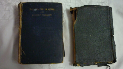 2 X ANTIQUE BOOKS - THE PSALTER IN METRE & CHURCH HYMNARY (1903) & HOLY BIBLE