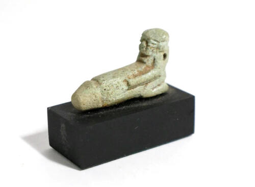 Egyptian Limestone Erotic Figure faience Amulet .