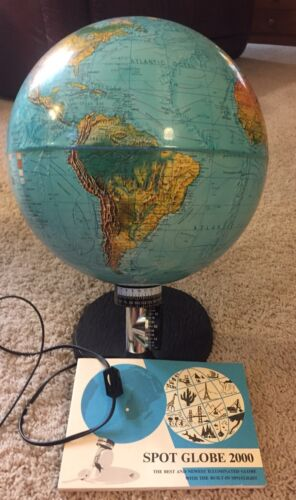 Vintage 1972 Scan-Globe A/S Spot Scan Illuminated  Made in Denmark Rare