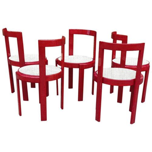 Rare Italian Modernist Bent Plywood Dining Chairs