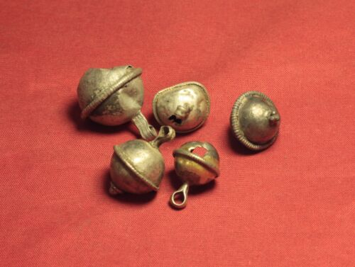 Lot of 5 Medieval Silver Rattle Buttons. 16. Century