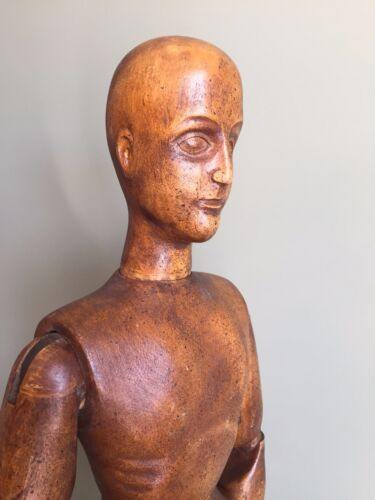 "Wooden Mannequin 32"" Articulated Made in Spain Vintage Antique"