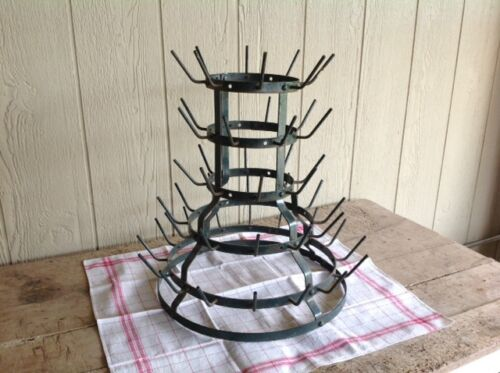 French Antique Wine Bottle Drying Rack in Excellent Condition