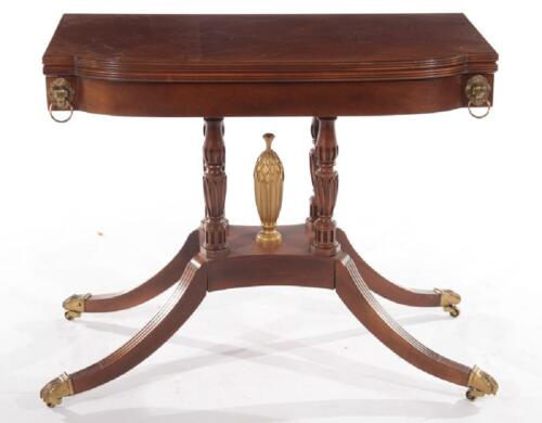 Baker Historic Charleston Collection Flip Top Game Table Williamsburg Style