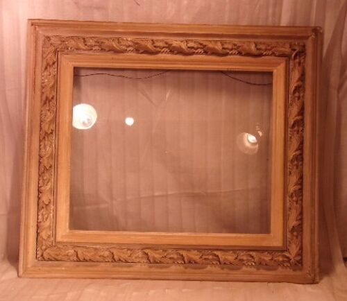 Antique victorian frame 27x31 holds 17 3/4 x 21 3/4 molding 5""