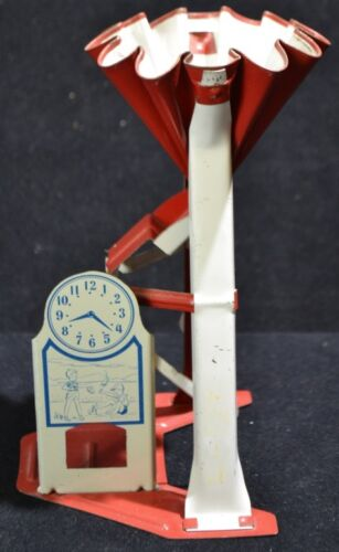 Tin Movable Sand Toy With Litho Clock Lot 84