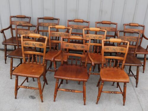 Antique Hitchcock Chairs Set Of 12