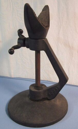 Antique Vtg Cast Iron Adjustable Gun Shooting Rifle Rest By Moody MG6T