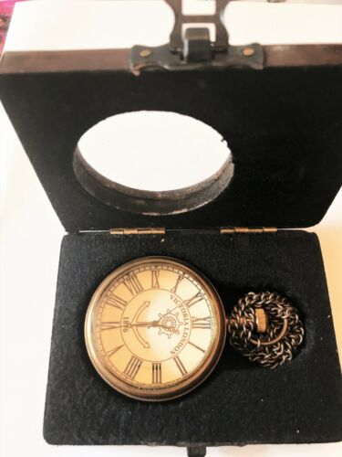 VICTORIA LONDON 1875 with Hand Chain Gift Pocket Watch. USA Seller!!!