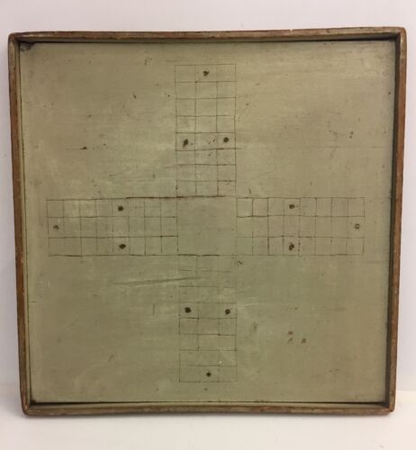 Antique PARCHEESI Hand wood Frame Game board FOLK ART 19th Century Paul Klee
