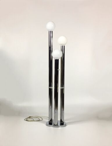 Mid Century Modern Floor Lamp Chrome Floor Lamp Robert Sonneman Reggiani