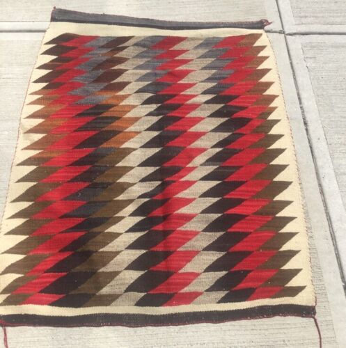 Antique Navajo Native South West American Indian Weaving Rug Arts & Crafts