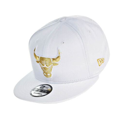 New Era Chicago Bulls NBA 9Fifty Men's Snapback Hat Cap White/Gold