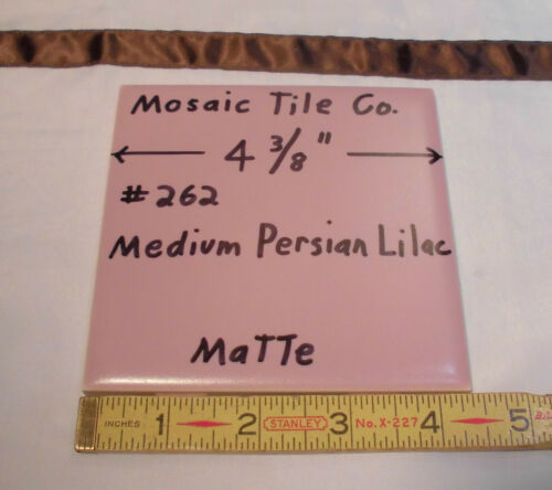 "6 pcs. *Persain Lilac* Ceramic Tiles by Mosaic Tile 4-3/8"" Pinkest New Old Stock"