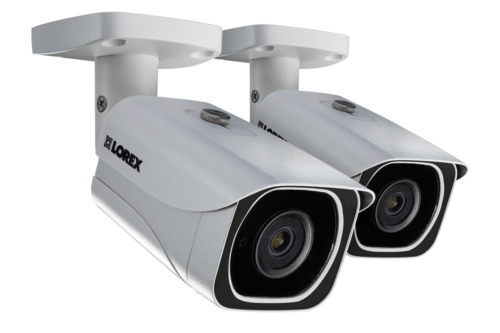 Lorex 4K Ultra HD resolution 8MP Outdoor IP camera, 130FT Night vision (2-pack)